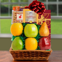 Splendid Sugar Free & Fresh Fruit Basket from Brennan's Secaucus Meadowlands Florist