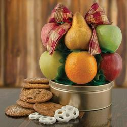 Fruit & Cookie Deluxe Fruit Basket from Brennan's Secaucus Meadowlands Florist