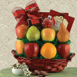 Season's Greetings Fruit Gift Basket from Brennan's Secaucus Meadowlands Florist