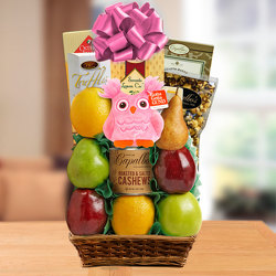 It's A Girl Fresh Fruit Basket from Brennan's Secaucus Meadowlands Florist