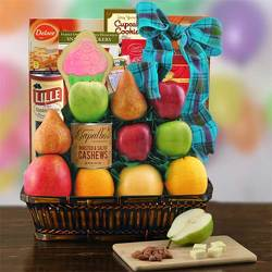 Birthday Greetings Fruit Basket from Brennan's Secaucus Meadowlands Florist