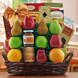 Masada Fruit & Kosher Gift Basket from Brennan's Secaucus Meadowlands Florist