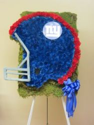 NEW YORK GIANTS HELMET CUSTOM DESIGN from Brennan's Secaucus Meadowlands Florist