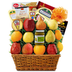 Fruit & Cheese Spectacular Fruit Basket from Brennan's Secaucus Meadowlands Florist