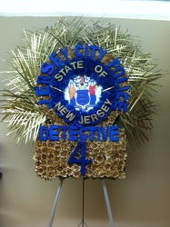 Jersey City Police Detective Sheild Custom Design from Brennan's Secaucus Meadowlands Florist