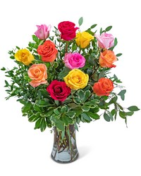 One Dozen Vibrant Roses from Brennan's Secaucus Meadowlands Florist