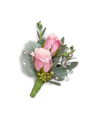 Glossy Boutonniere from Brennan's Secaucus Meadowlands Florist