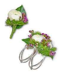 Intrinsic Corsage and Boutonniere Set from Brennan's Secaucus Meadowlands Florist