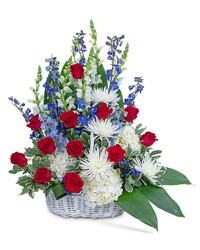 Freedom Tribute Basket from Brennan's Secaucus Meadowlands Florist