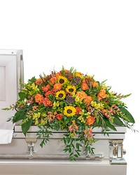Sunset Reflections Casket Spray from Brennan's Secaucus Meadowlands Florist