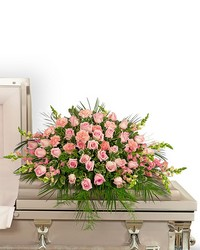 Forever Adored Casket Spray from Brennan's Secaucus Meadowlands Florist