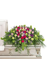 Always Remembered Casket Spray from Brennan's Secaucus Meadowlands Florist