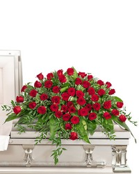 Everlasting Love Casket Spray from Brennan's Secaucus Meadowlands Florist