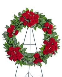 Serene Sanctuary Wreath from Brennan's Secaucus Meadowlands Florist