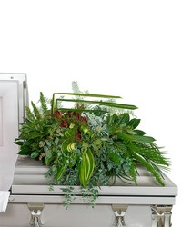Beloved Botanics Casket Spray from Brennan's Secaucus Meadowlands Florist