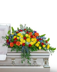 Vibrant Life Casket Spray from Brennan's Secaucus Meadowlands Florist