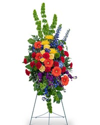 Vibrant Life Standing Spray from Brennan's Secaucus Meadowlands Florist