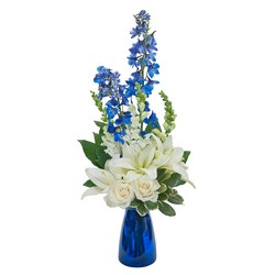 Blue Vibrations from Brennan's Secaucus Meadowlands Florist