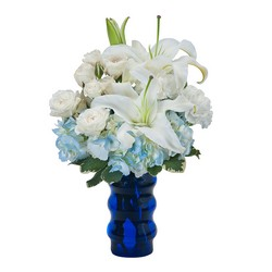 Groovy in Blue from Brennan's Secaucus Meadowlands Florist