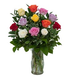 Dozen Roses - Mix it up! from Brennan's Secaucus Meadowlands Florist