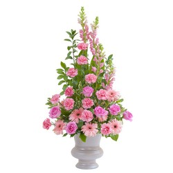 Peaceful Pink Large Urn from Brennan's Secaucus Meadowlands Florist