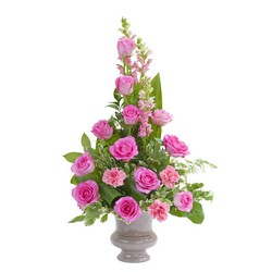 Peaceful Pink Small Urn  from Brennan's Secaucus Meadowlands Florist