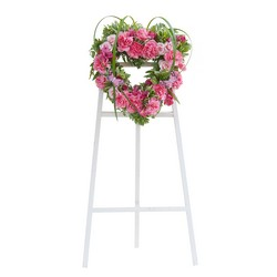 Peaceful Pink Heart Spray from Brennan's Secaucus Meadowlands Florist