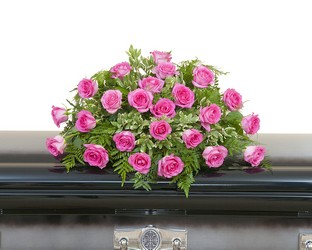 Pink Rose Casket Spray from Brennan's Secaucus Meadowlands Florist