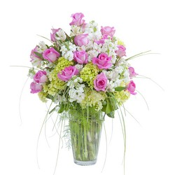 Pink and White  Elegance Vase from Brennan's Secaucus Meadowlands Florist