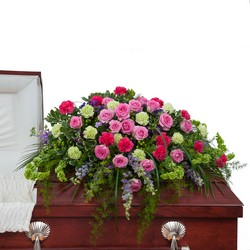 Forever Cherished Casket Spray from Brennan's Secaucus Meadowlands Florist