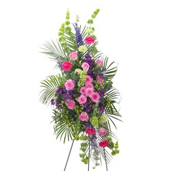 Forever Cherished Easel Spray from Brennan's Secaucus Meadowlands Florist