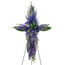 Lovingly Lavender Cross from Brennan's Secaucus Meadowlands Florist