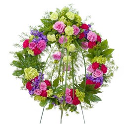 Forever Cherished Wreath from Brennan's Secaucus Meadowlands Florist