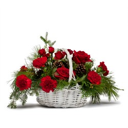 Classic Holiday Basket from Brennan's Secaucus Meadowlands Florist