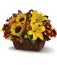 Golden Days Basket from Brennan's Secaucus Meadowlands Florist