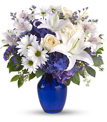Beautiful in Blue from Brennan's Secaucus Meadowlands Florist